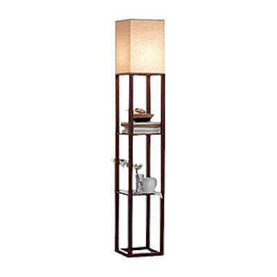 Shelf Floor Lamp with Shade
