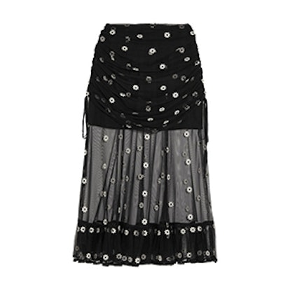Le Lady Embroidered Tulle Skirt