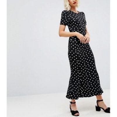 City Maxi Tea Dress in Polka Dot Print