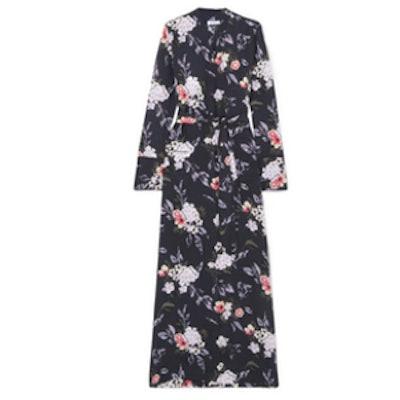 Britten Floral-Print Silk Crepe De Chine Maxi Dress