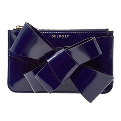 M'O Exclusive Mini Bow-Embellished Patent-Leather Clutch