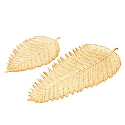 Gold Leaf-Shaped Tray