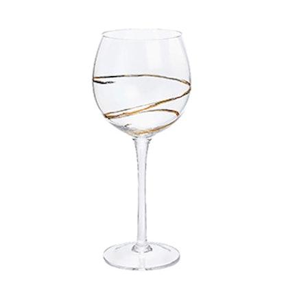 Golden Spiral Wine Glass