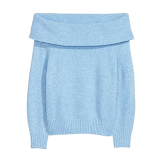 Sweater in Light Blue Melange