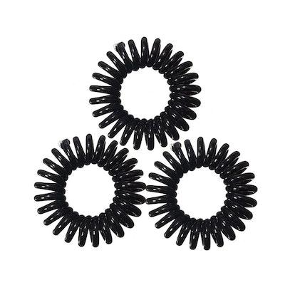 Hair Ties and Bracelet Band In True Black