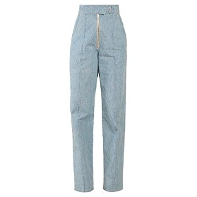 Nuk High-Rise Straight-Leg Trousers