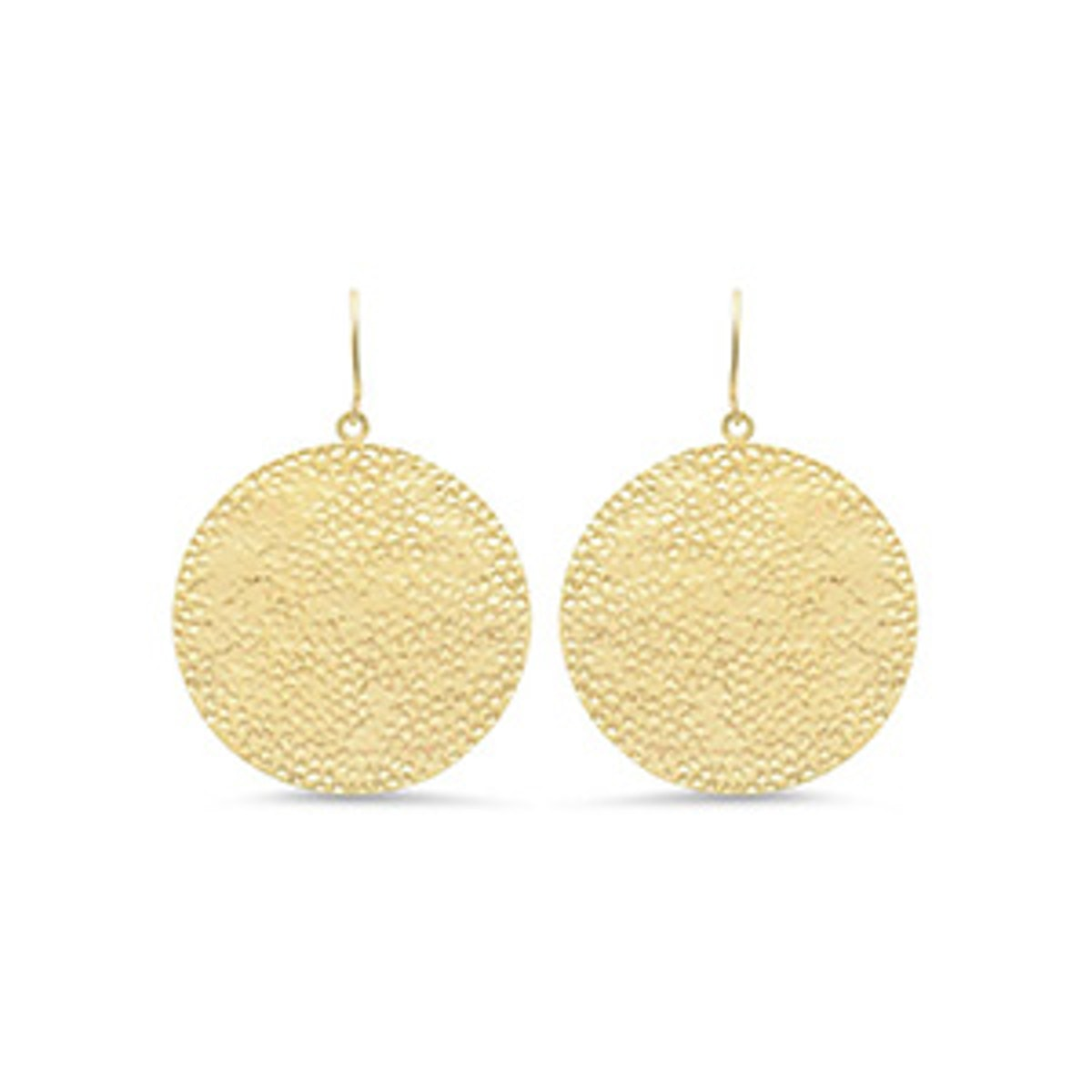 Large Hammered Disc Earrings