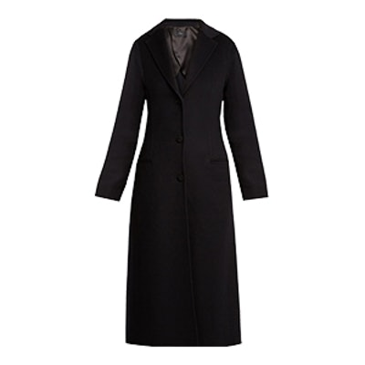 Archi Wool and Silk-Blend Coat