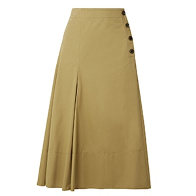 Joseph Smith Cotton-Twill Midi Skirt
