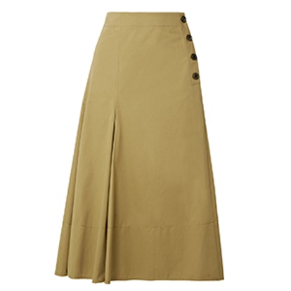 Joseph Smith Cotton-Twill Midi Skirt