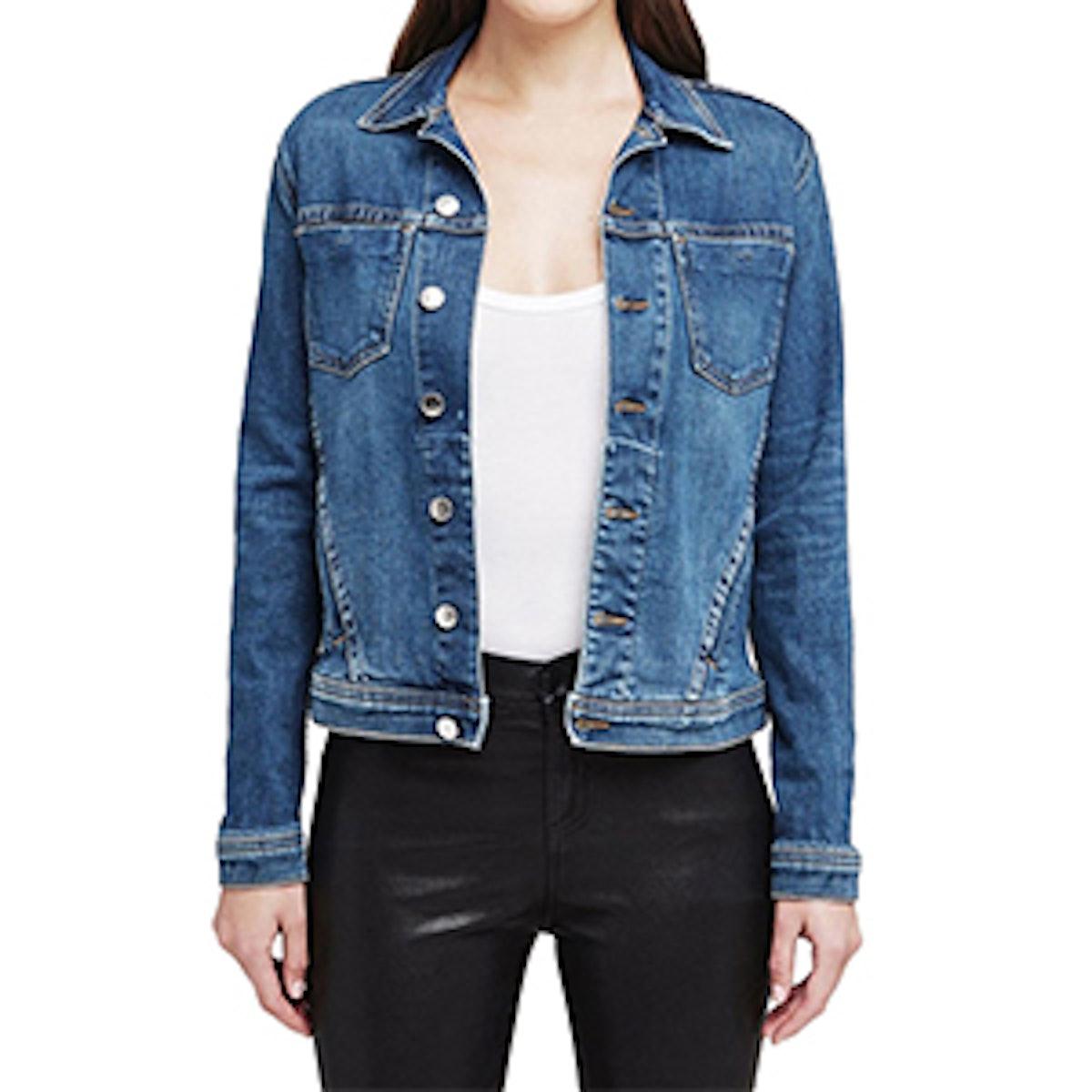 Celine Denim Jacket with Rose Gold Foil Back