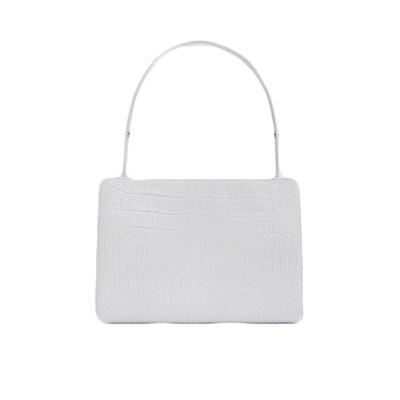 Small Shopper Bag in White Croc