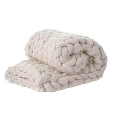 Madeira Chunky Knit Merino Wool Throw