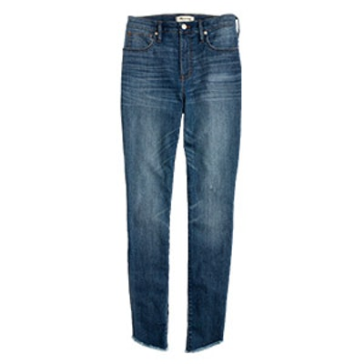 10″ High-Rise Skinny Jeans Tulip-Hem Edition