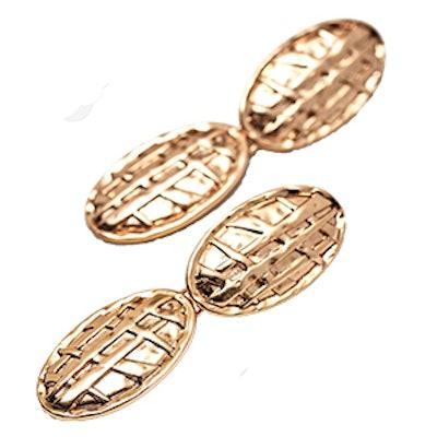 Two-Piece Embossed Metal Earrings