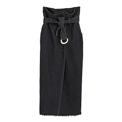 Tuli Paperbag Waist Denim Skirt
