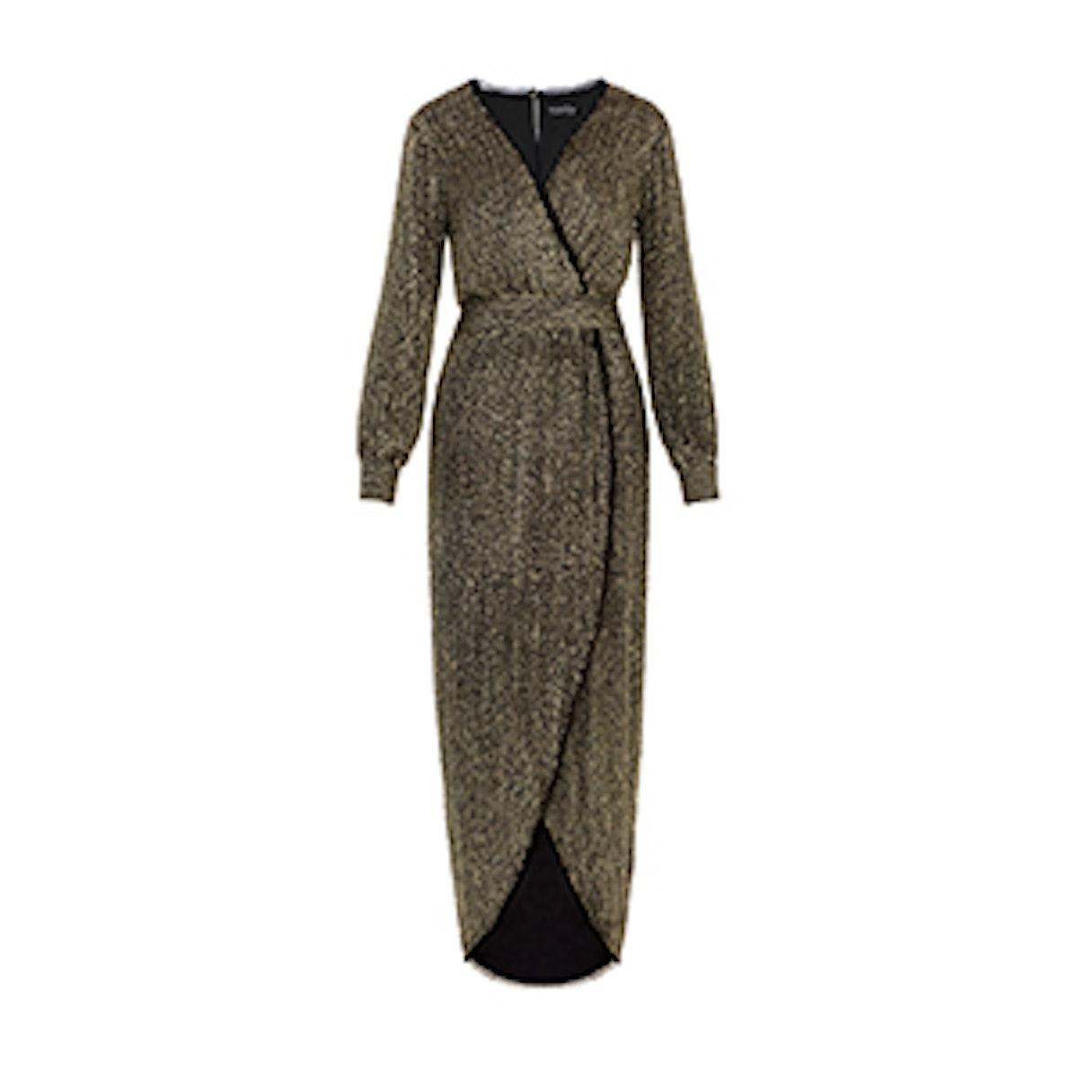 Esmeralda Long-Sleeve Beaded Gown