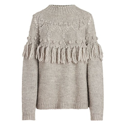 Shirley Fringe-Detail Knit Sweater