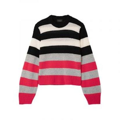 Annika Striped Cashmere Sweater