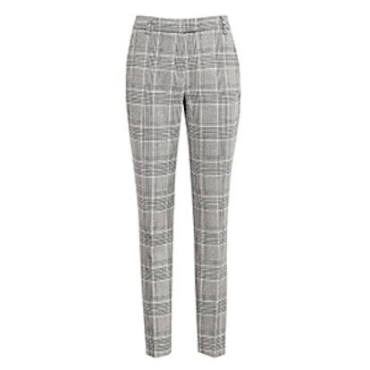 Joanne Check Slim-Leg Trousers