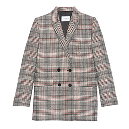 Double Breasted Wool Blend Jacket