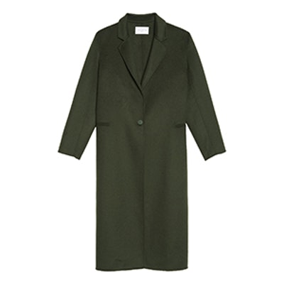 Mid Length Coat in Wool and Cotton