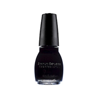 Professional Nail Color in Black on Black