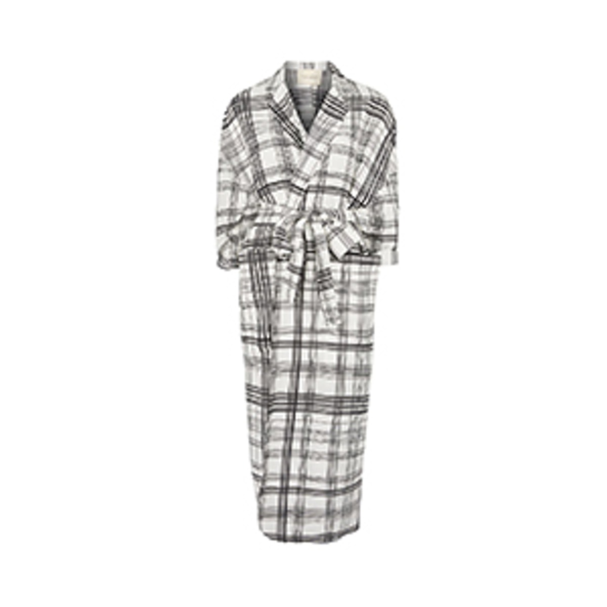 Grid Checked Duster Coat