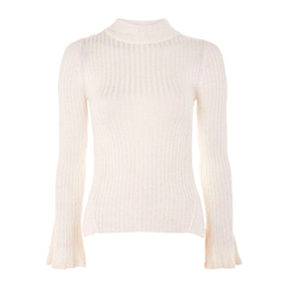 Flute Sleeve Roll Neck Top