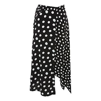 Spotted Hanky Hem Skirt