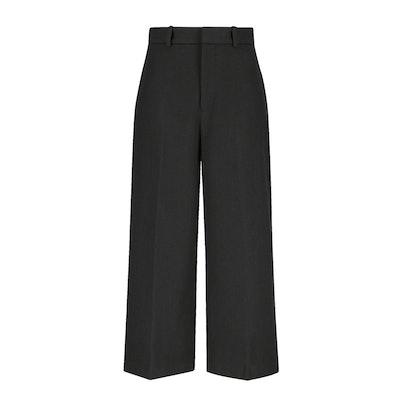 Women Wool-Blend Wide Leg Pant
