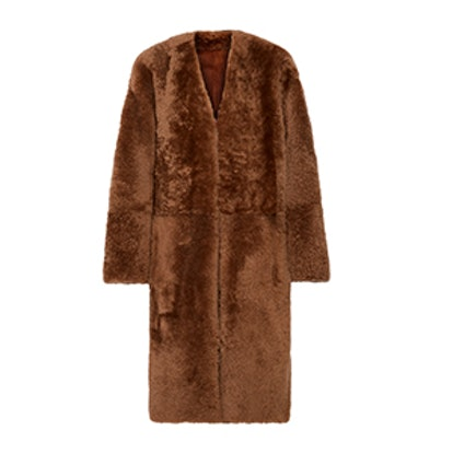 Reversible Shearling and Nubuck Coat
