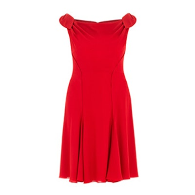 Crepe Tie Shoulder Detail Dress
