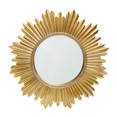 Golden Sun-Shaped Mirror