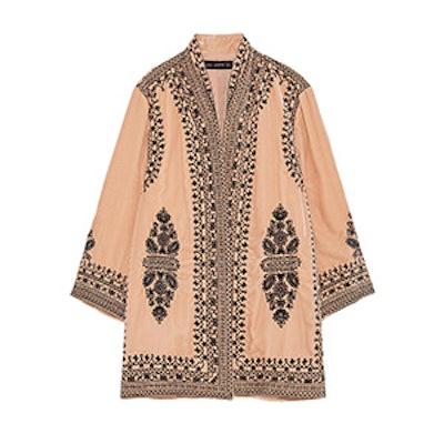 Velvet Embroidered Kimono