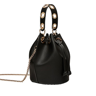 Mini Bucket Bag With Eyelets