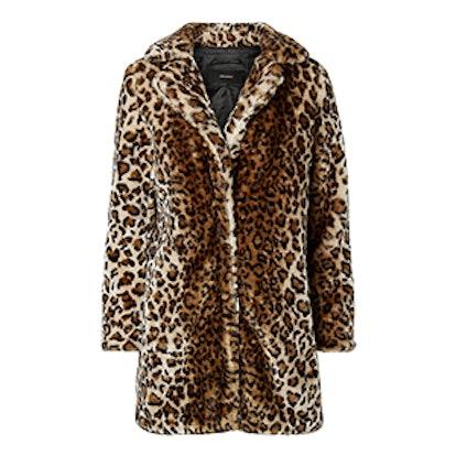 Longline Leopard Print Jacket