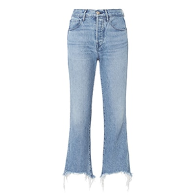 Byrd Shelter Raw Hem Cropped Jeans