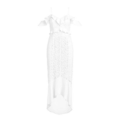 Chloe Off-The-Shoulder Garden Lace Dress