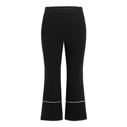 Michelle Stretch-Crepe Cropped Flare Pants