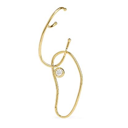Grace 18-Karat Gold Diamond Earring