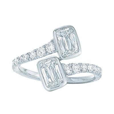 Ashoka Diamond Ring in Platinum