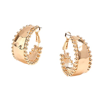Ball Edge Hoops Earrings