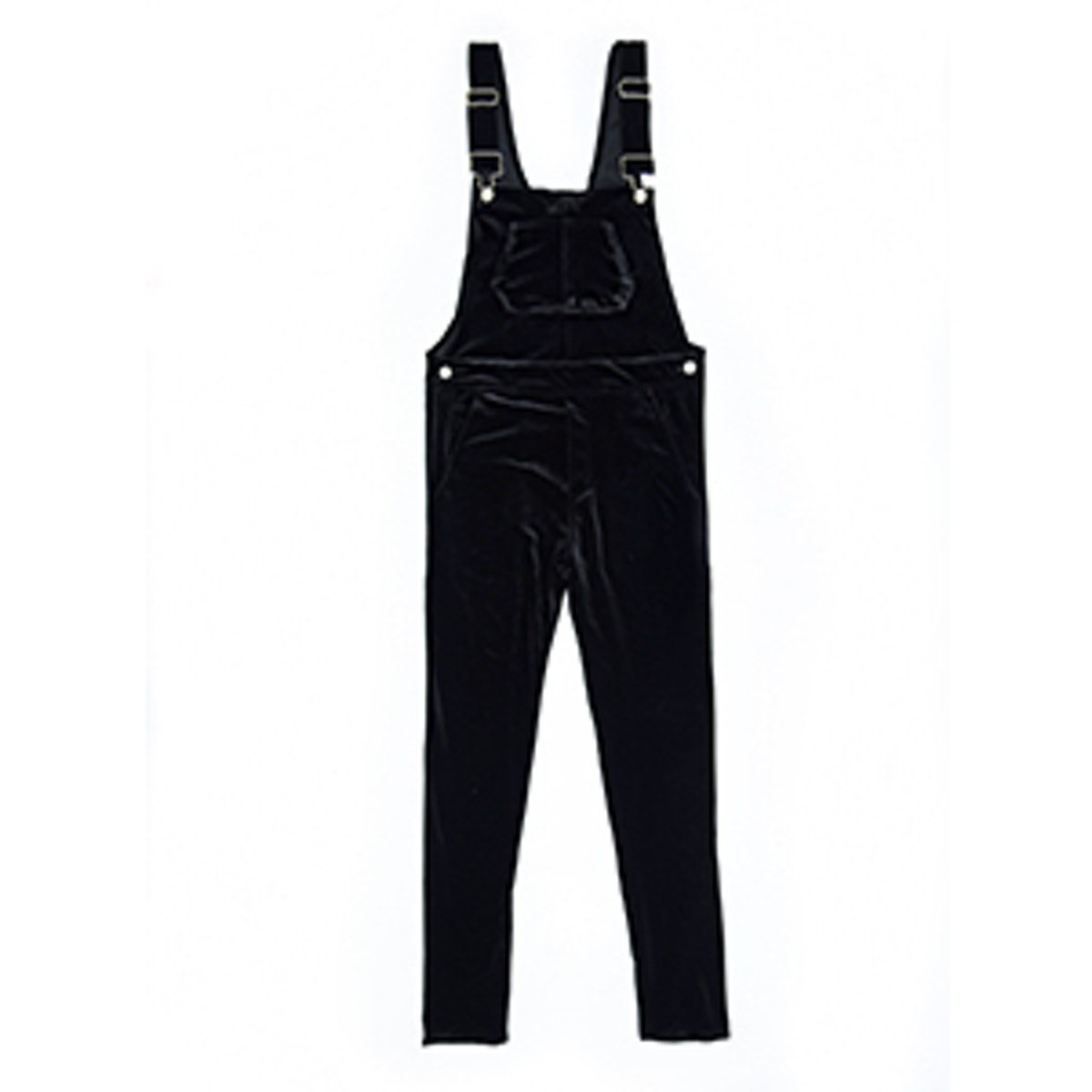Black Velvet Overalls