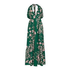 Violeta Floral-Print Cotton Gown