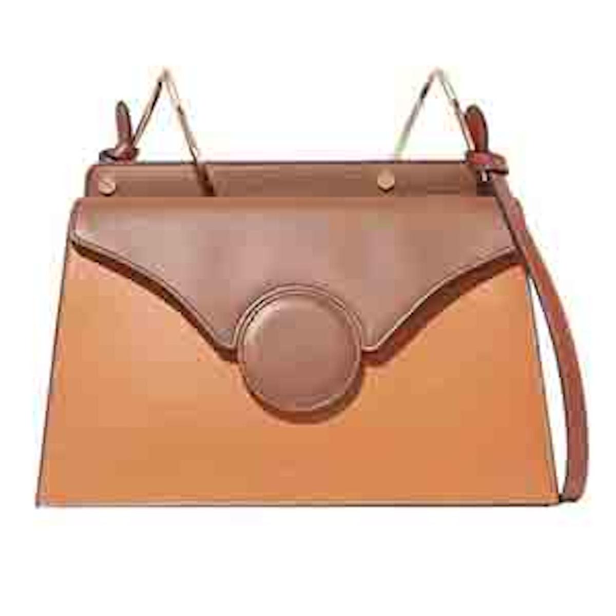 Phoebe Two-Tone Leather Shoulder Bag