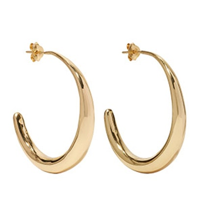 Louise Olsen Large Liquid Gold-Plated Hoop Earrings