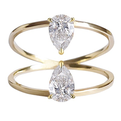 Duét Pear Ring