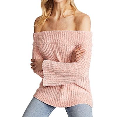 Knit Off Shoulder Sweater