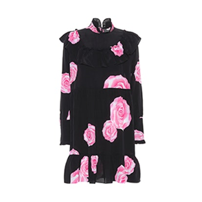 Fayette Floral-Printed Silk Dress